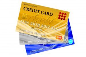 数種類のクレジットカード